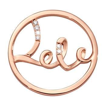Nikki Lissoni Rose Gold Plated My Love Is Endless Coin