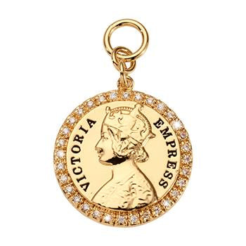 Nikki Lissoni Victoria Empress Charm, Gold Plated