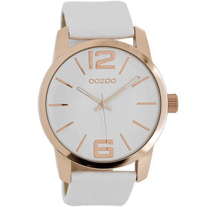 OOZOO Watch 43mm rose gold case / rose gold on white