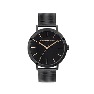 Christian Paul Black Raw Moonlight 43mm Watch
