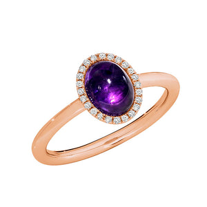 Temptation 9Ct Rose Gold Amethyst Ring