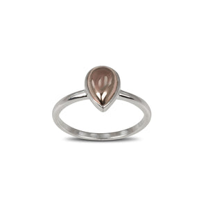Von Treskow Sterling silver pear shape gold filled ring