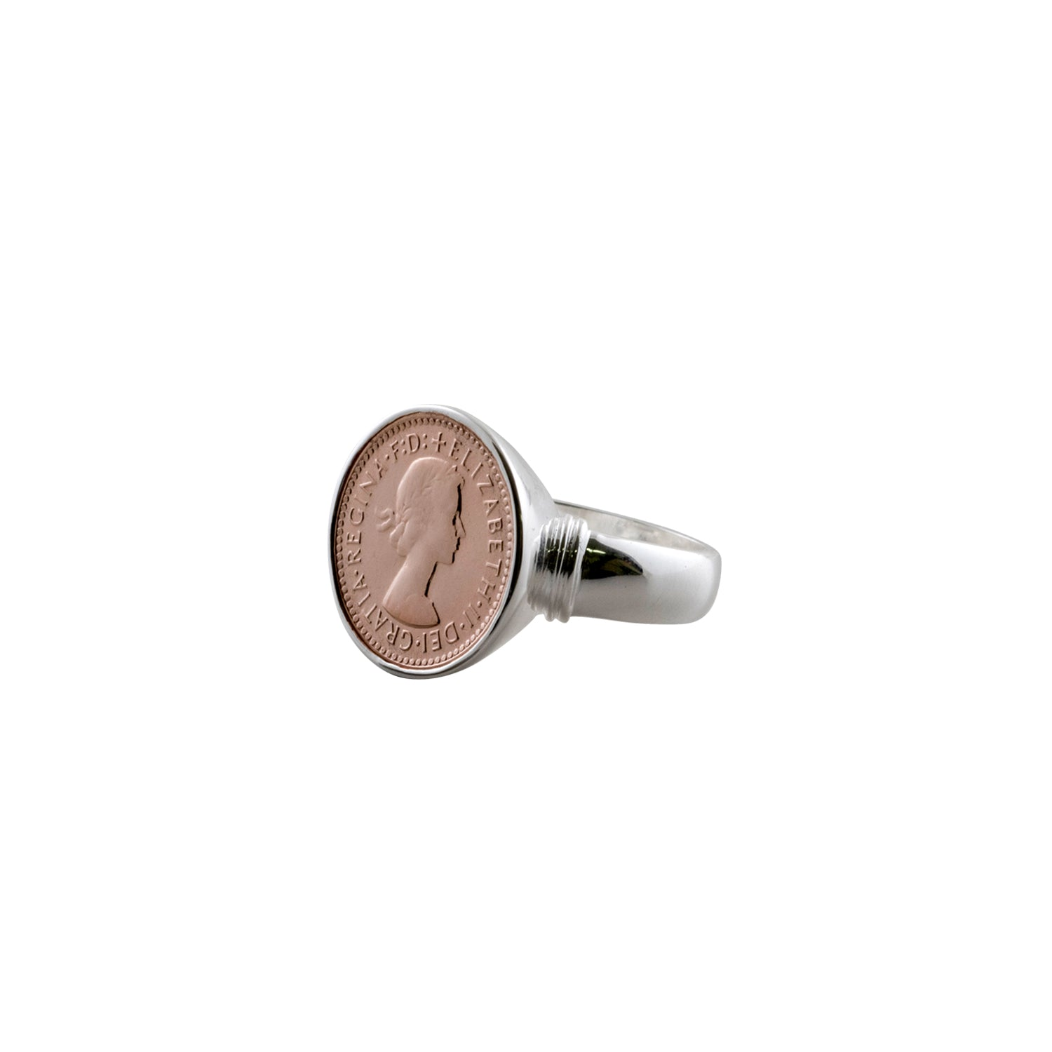 Von Treskow Rose gold threepence ring