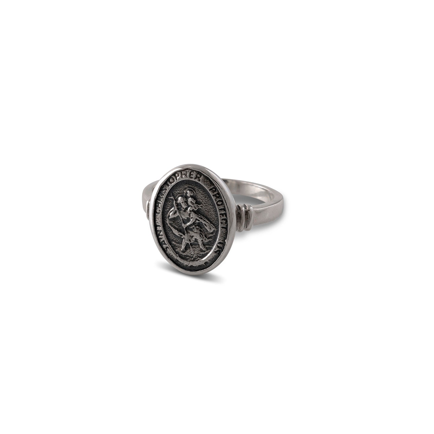Von Treskow Sterling Silver St Christopher Ring