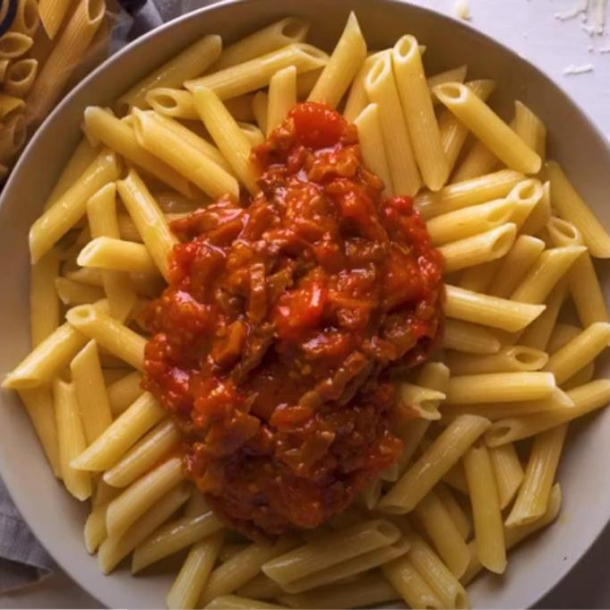 Amatriciana Pasta with Adoro Penne