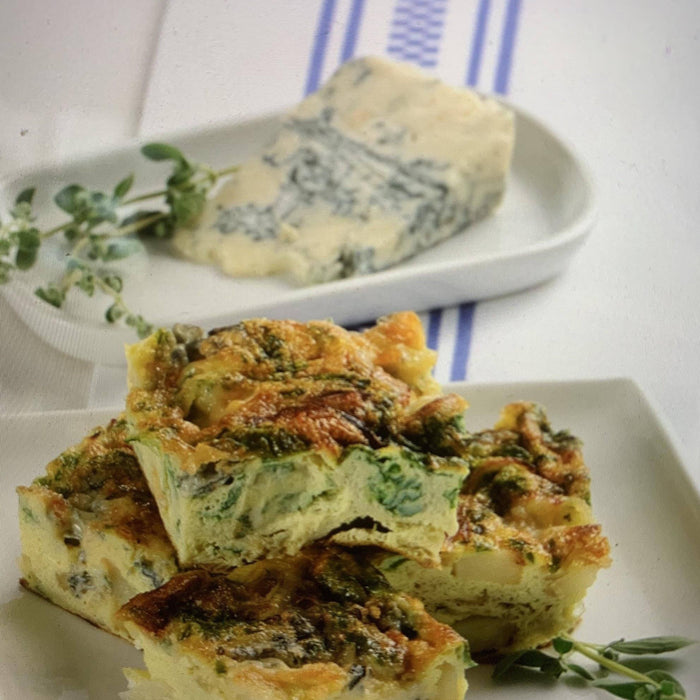 Frittata with Broccoli Rabe, Gorgonzola and Guanciale