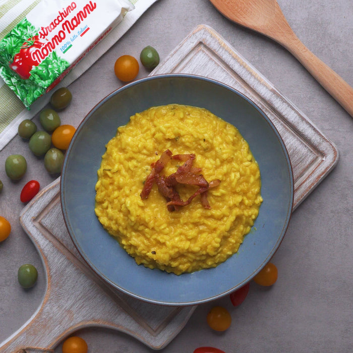Pumpkin Risotto with Authentic Italian Stracchino
