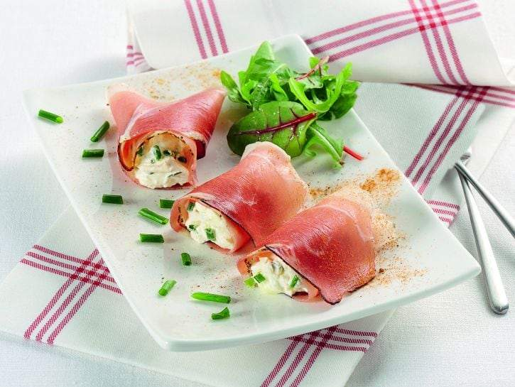 Speck Rolls with Robiola Cream