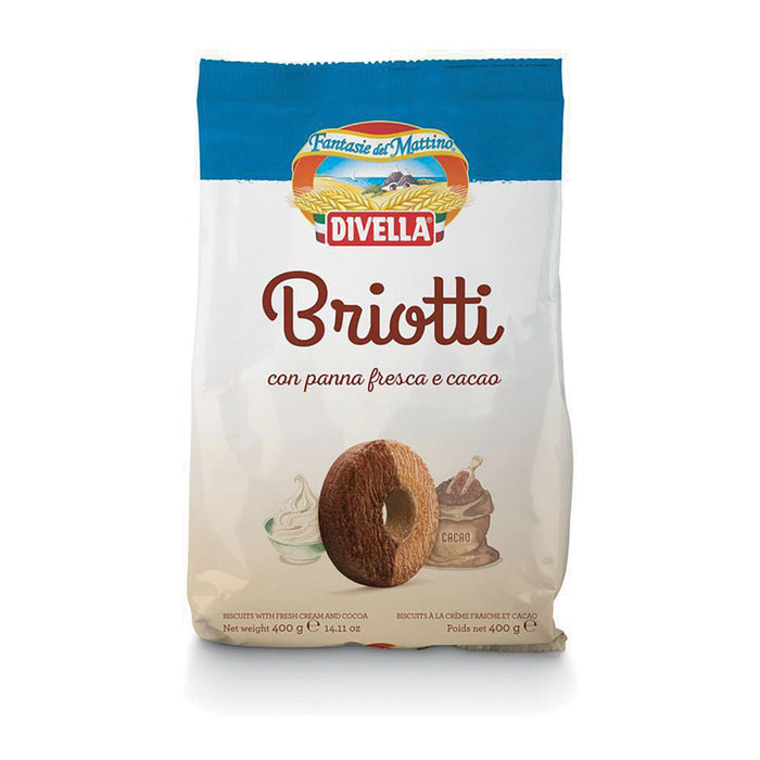 """Briotti"" Cookies with Light Chocolate and Whipping Cream by Divella Crakers & Sweetes Sogno Toscano"