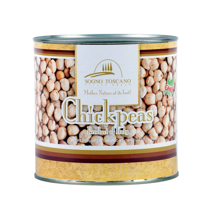 Chickpeas/ Garbanzo (Can) 2.5kg Can Pasta, Grains & Beans SOGNOTOSCANO