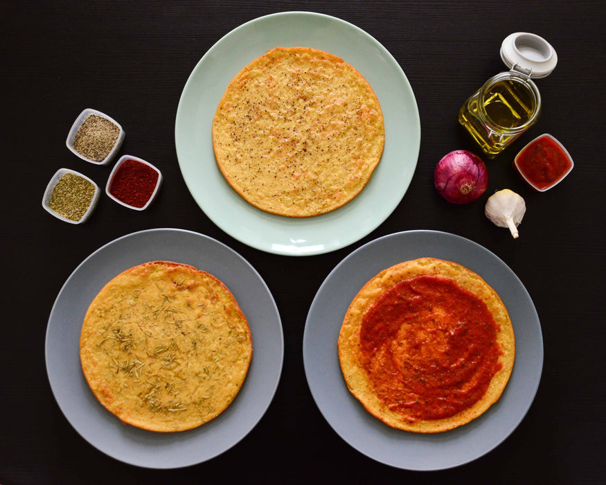 Farinata (Chickpea Flour Pancake) with Black Pepper Antipasto & Bites SOGNOTOSCANO