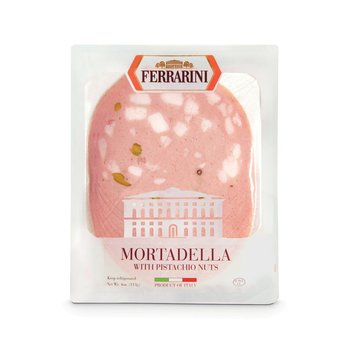 """Ferrarini"" Italian Mortadella with Pistachio - Pre-Sliced (1x4oz) Meats & Cheeses SOGNOTOSCANO"