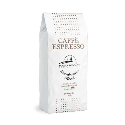 Gambrinus Blend Coffee 1kg/2.2lbs Crakers & Sweetes SOGNOTOSCANO