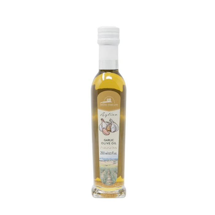 Garlic oil 250ml Glass Bottle Oils Vinegars & Dressings SOGNOTOSCANO