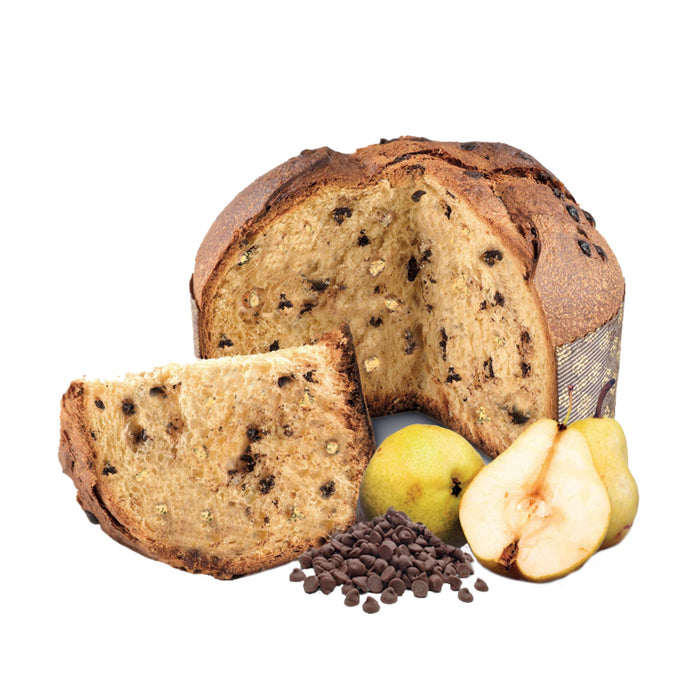 Pear and Chocolate Panettone (26.45oz) Crakers & Sweetes SOGNOTOSCANO