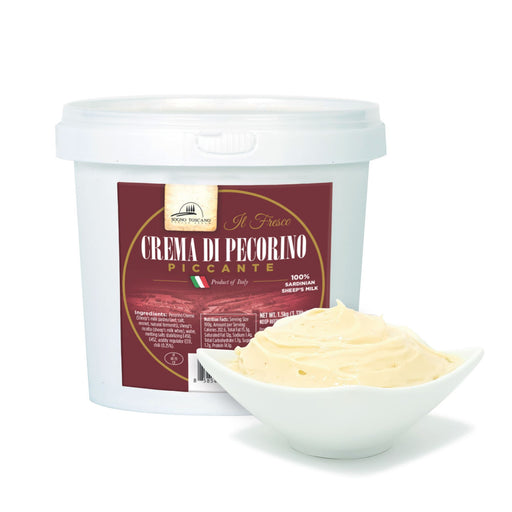 Pecorino Cream Spicy Tub 1.5kg (3.3lbs) Meats & Cheeses SOGNOTOSCANO