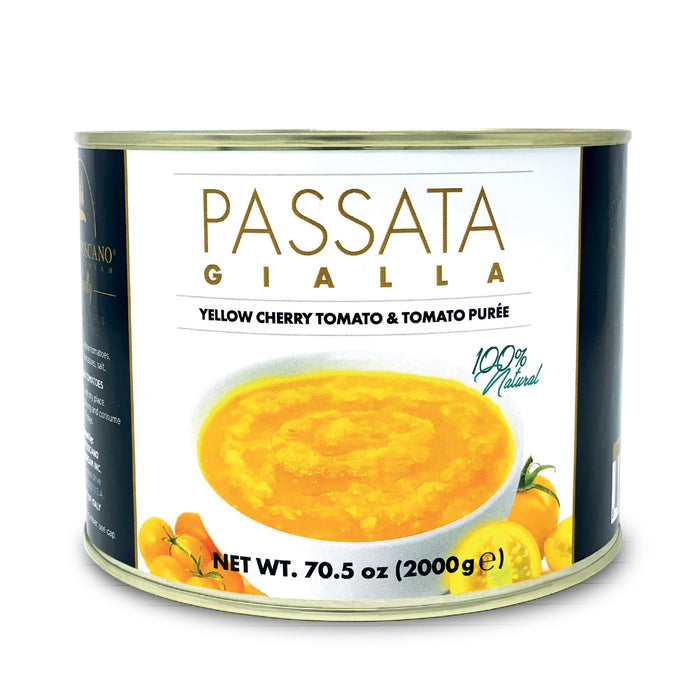 Yellow ciliegino tomato passata 2kg Can Tomatos and Friends SOGNOTOSCANO