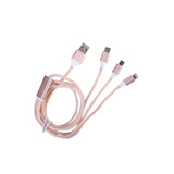 CABLE DE DATOS MULTIFUNCIONAL ORO ROSA