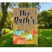 Load image into Gallery viewer, Rustic Fall Pumpkin Garden Flag
