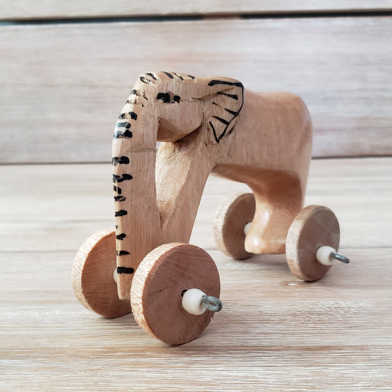 Safari Friends Wooden Animals on Wheels!