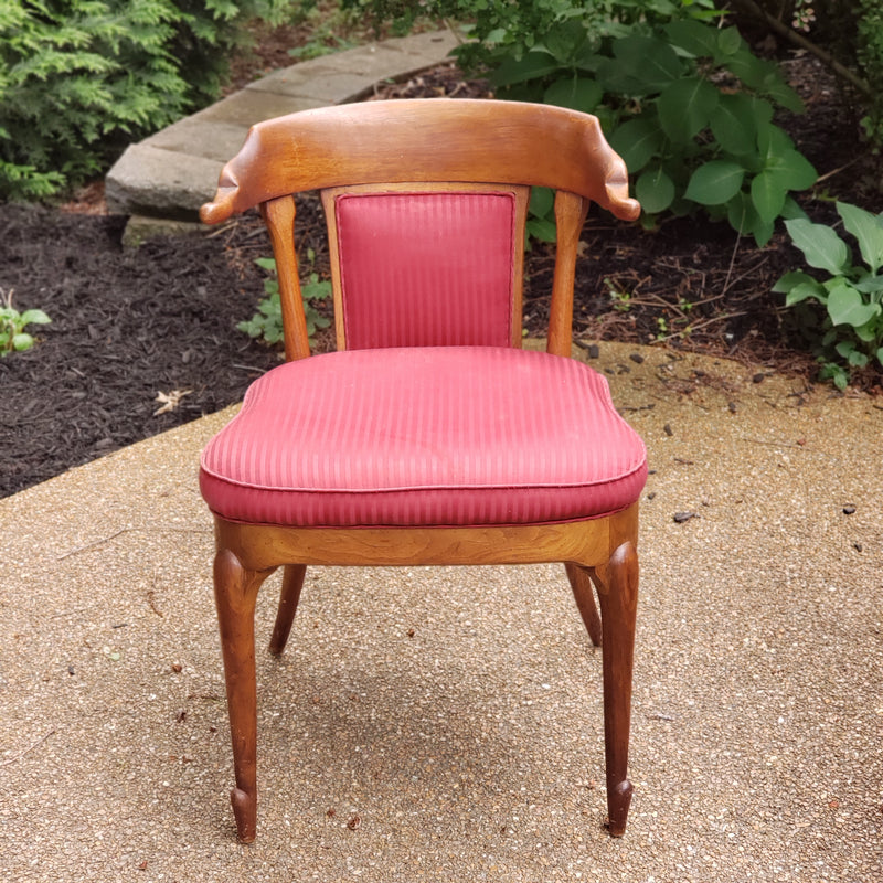 Italian Provincial Pinstriped Dining Chairs (Teak Wood)