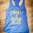 "STL Blues  ""Stanley + Gloria Forever"" Racer Back T-Shirts"