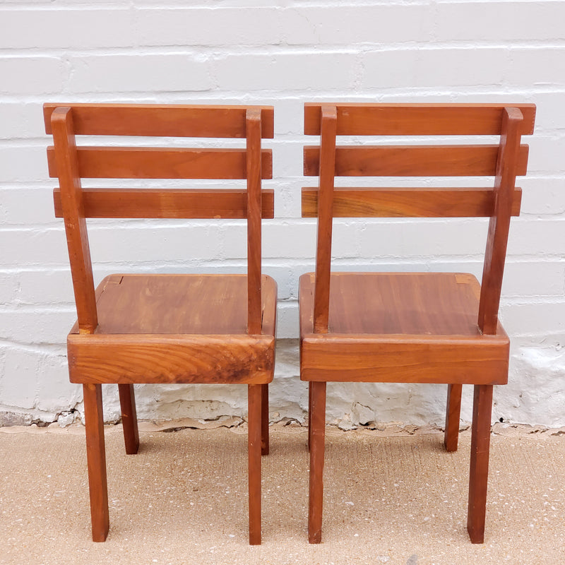 Teak Children's Chairs (Set of 2)
