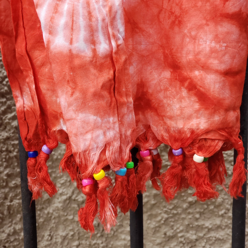 Kenyan Soft Cotton Fringe Scarf