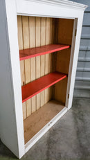 White and Red Bookcase