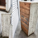 White Chippy Country Cabinet