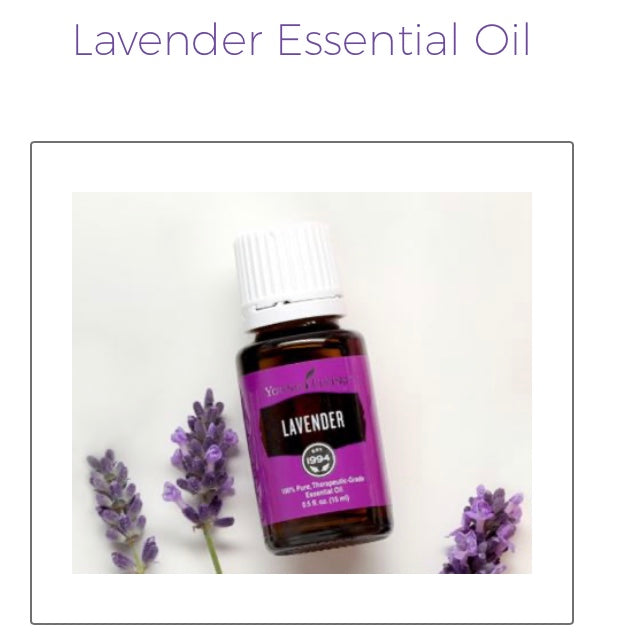 Lavender Essential Oil (Young Living Essential Oils)
