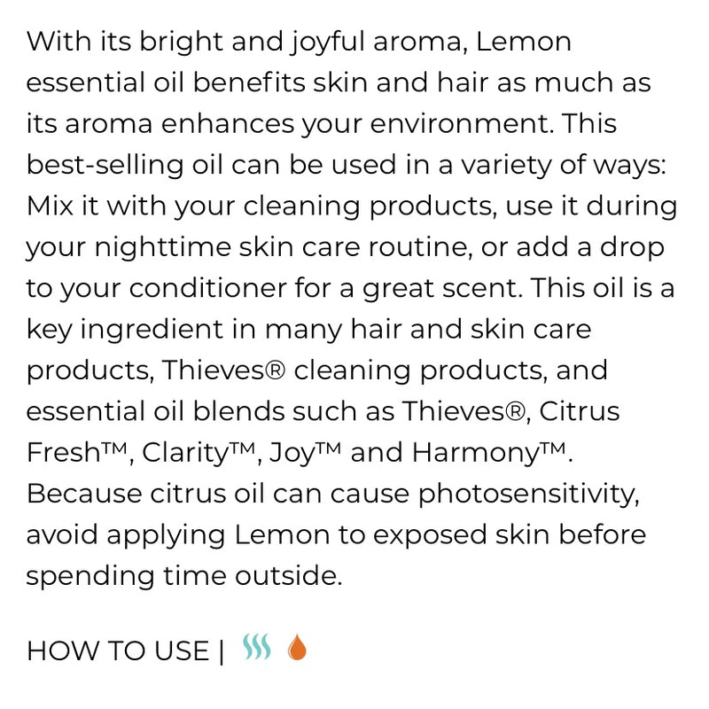 Lemon Essential Oil (Young Living Essential Oils)