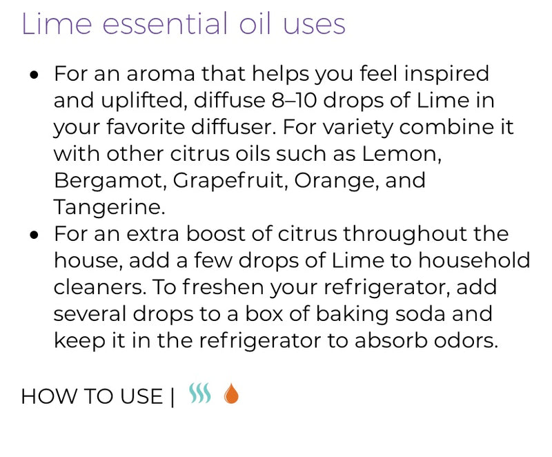 Lime Essential Oil (Young Living Essential Oils)