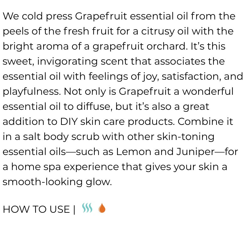 Grapefruit Essential Oil (Young Living Essential Oils)