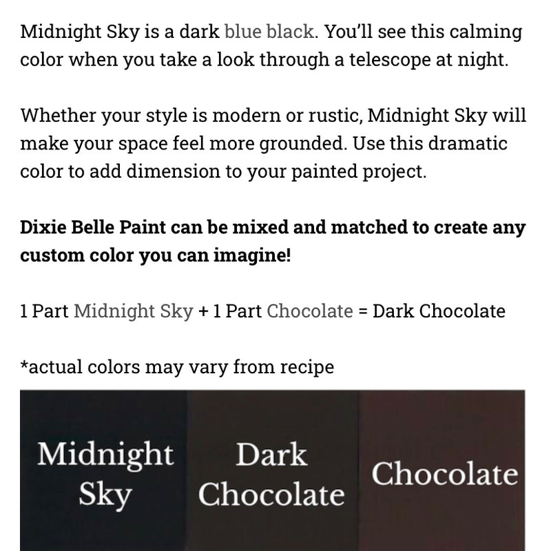 Midnight Sky / Dixie Belle Chalk Mineral Paint