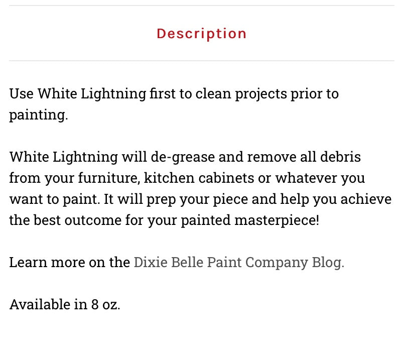 White Lightning / Dixie Belle Chalk Mineral Paint