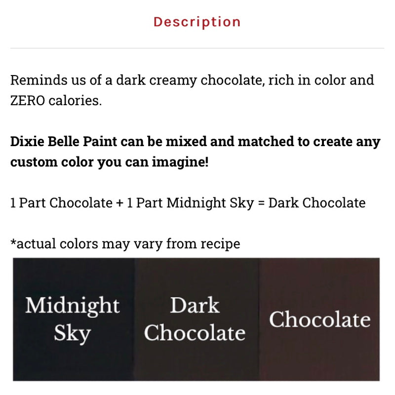 Chocolate / Dixie Belle Chalk Mineral Paint