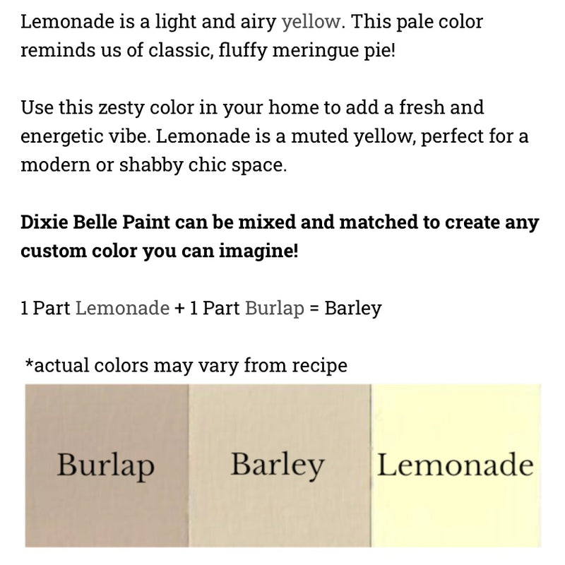 Lemonade / Dixie Belle Chalk Mineral Paint