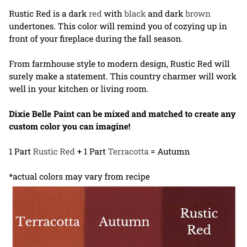 Rustic Red / Dixie Belle Chalk Mineral Paint