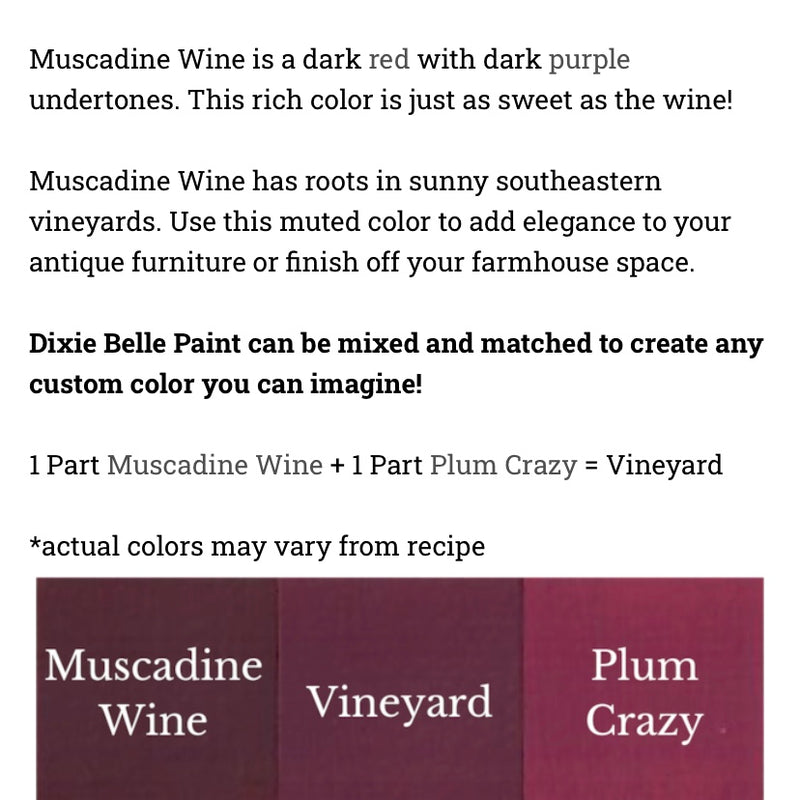 Muscadine Wine / Dixie Belle Chalk Mineral Paint