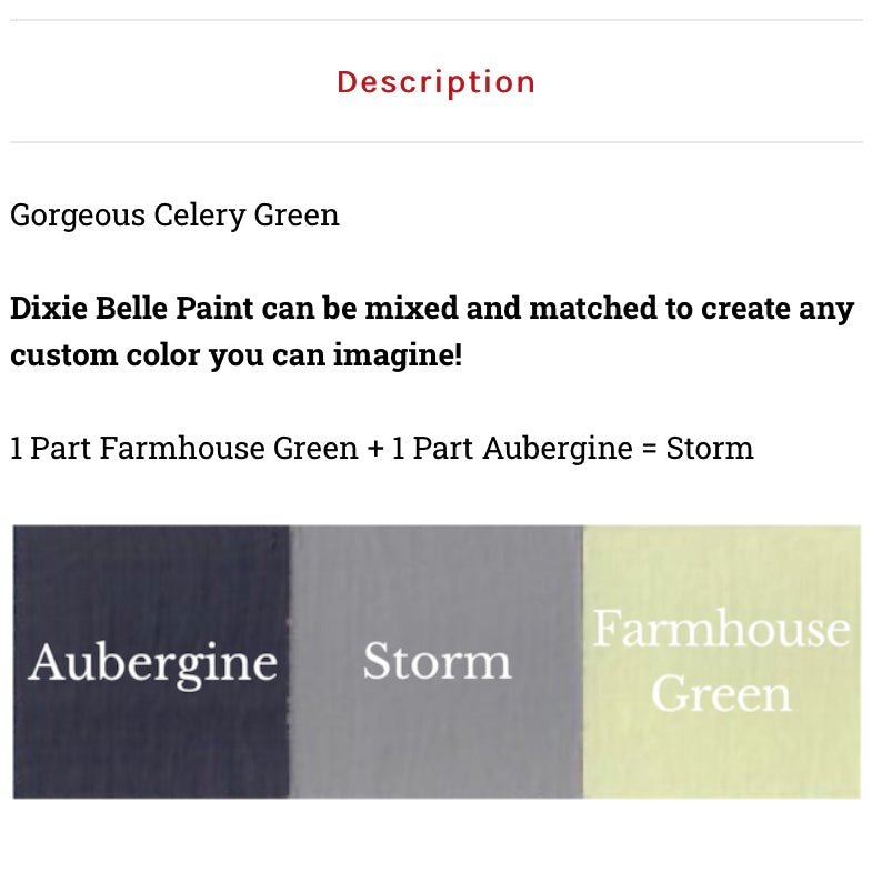 Farmhouse Green / Dixie Belle Chalk Mineral Paint