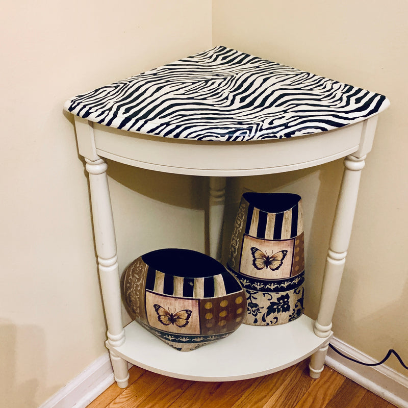 Zebra / Safari Corner Table