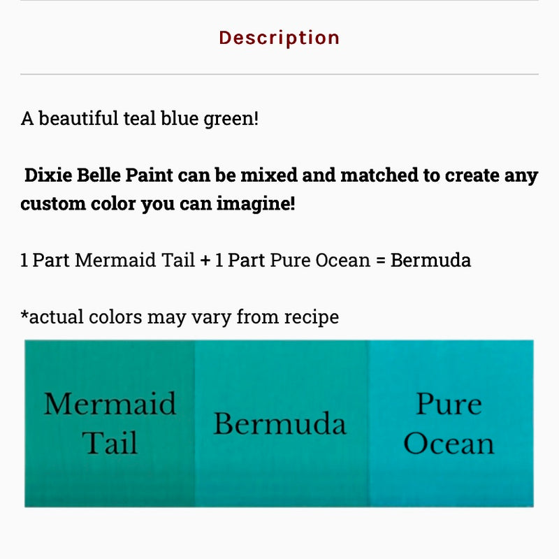 Mermaid Tail  / Dixie Belle Chalk Mineral Paint
