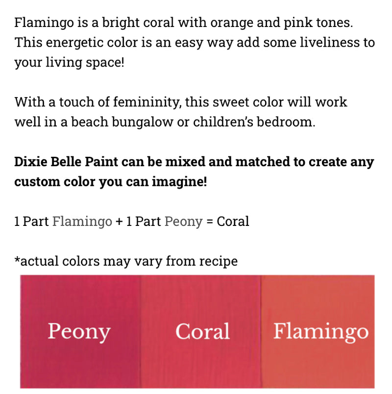Flamingo / Dixie Belle Chalk Mineral Paint