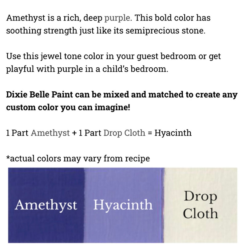 Amethyst  / Dixie Belle Chalk Mineral Paint