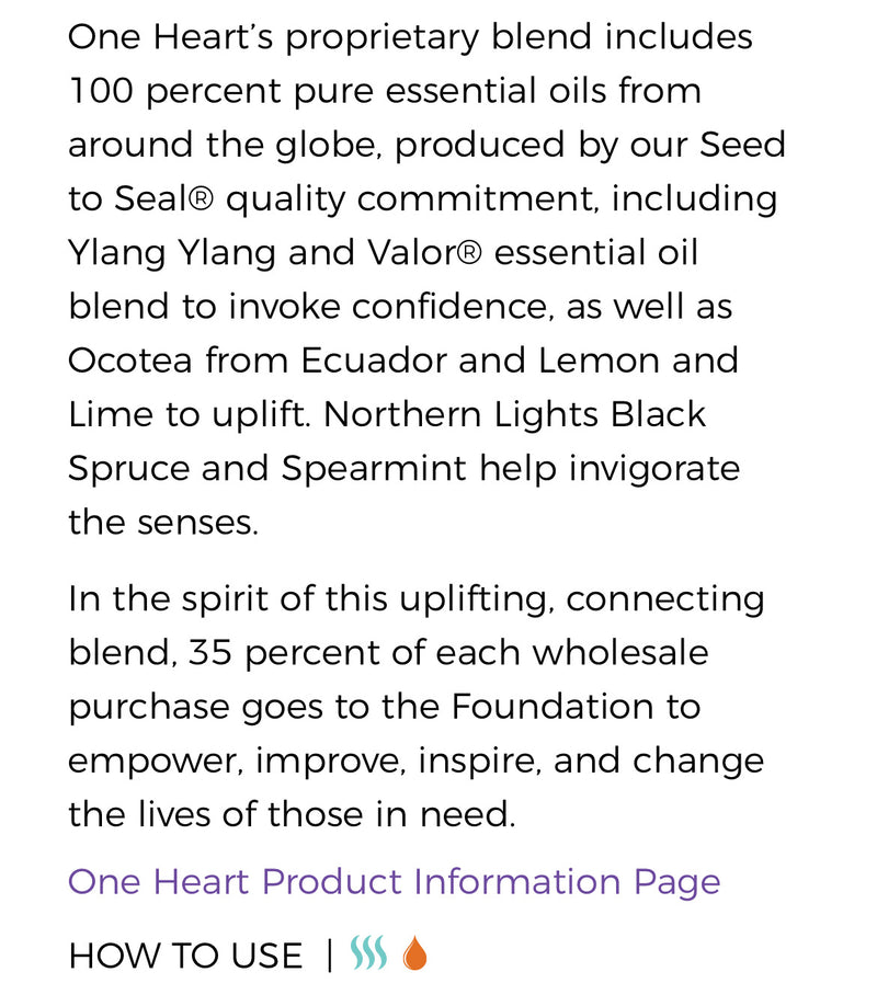 One Heart Essential Oil