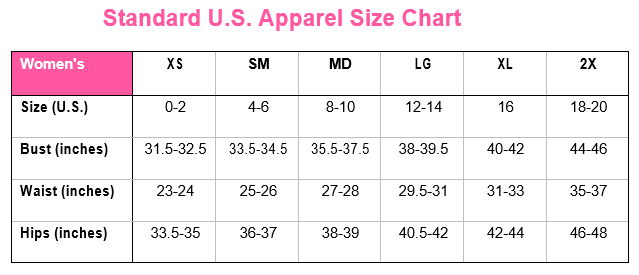 Size Chart – Three Boutique