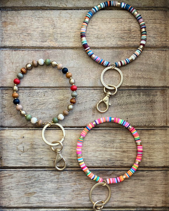 Beaded O Key Rings