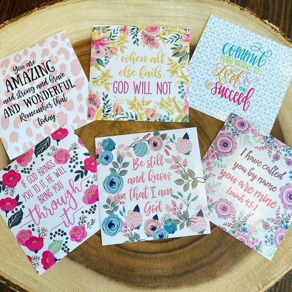 Mary Square Inspirational Decals