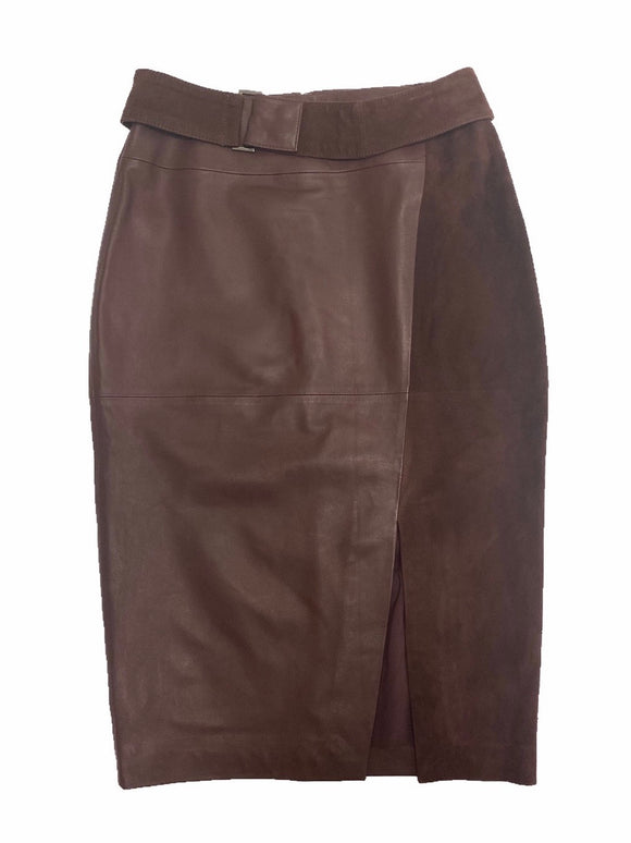 White House/Black Market Genuine Leather Skirt - NWT (0)